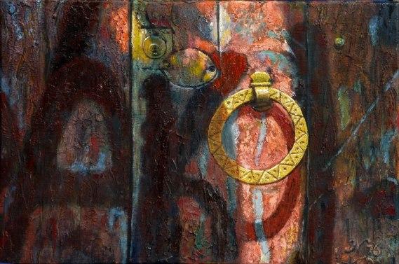 acryl-olie op paneel, 30x24 cm, particulier bezit