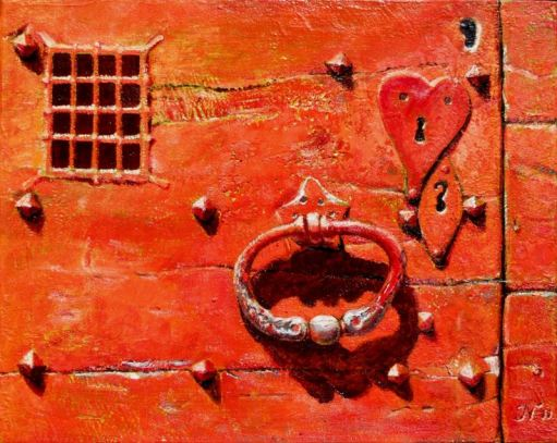 acryl-olie op board, 24x30 cm, particulier bezit