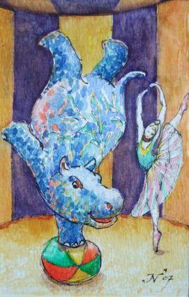 aquarel, 15x10 cm, particulier bezit