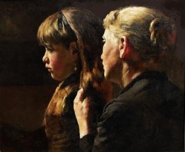Arthur Briet, Aankleden van Suusje ca. 1900