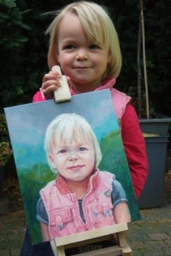 Mirthe met portret