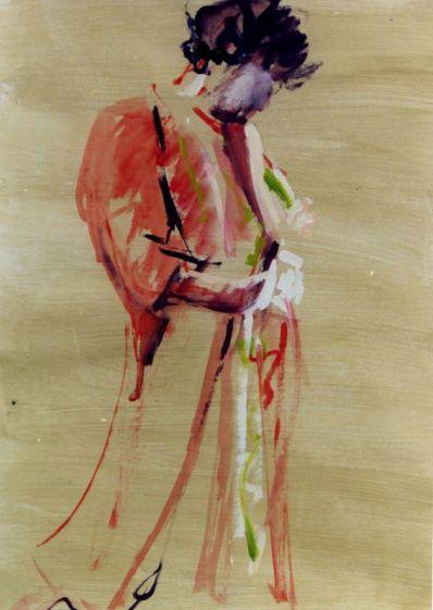 acryl op papier, 80x60 cm, euro 275,-