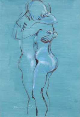 acryl op papier, 80x60 cm, particulier bezit