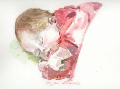 aquarel, 30x40 cm, particulier bezit